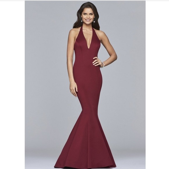 Faviana mermaid prom dress/pageant evening gown